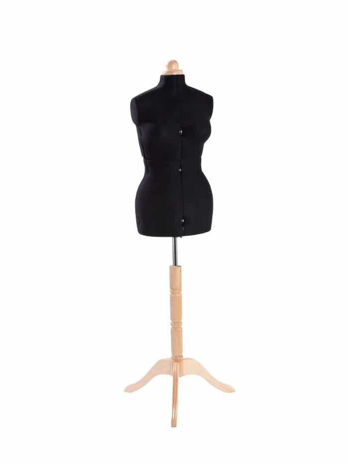 Раздвижной портновский манекен Adjustoform Lady Valet M/B, черный