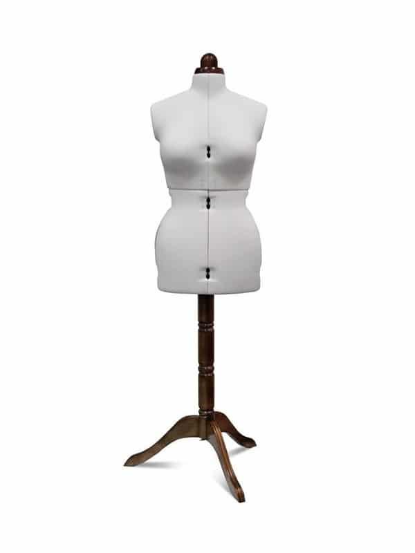 Раздвижной портновский манекен Adjustoform Lady Valet M/B, белый