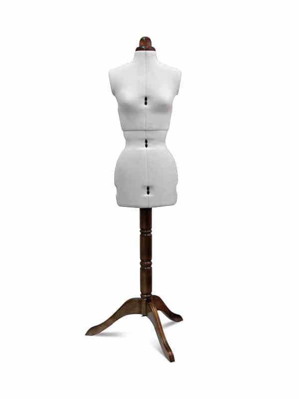 Раздвижной портновский манекен Adjustoform Lady Valet S/A, белый