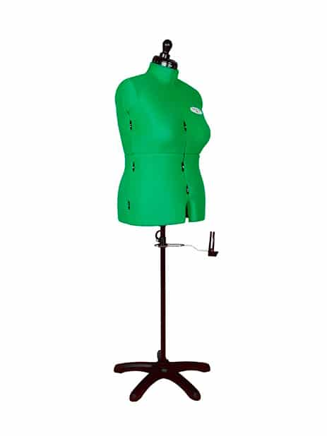 Раздвижной портновский манекен женский Celine Standard F/D (58-68), зеленый