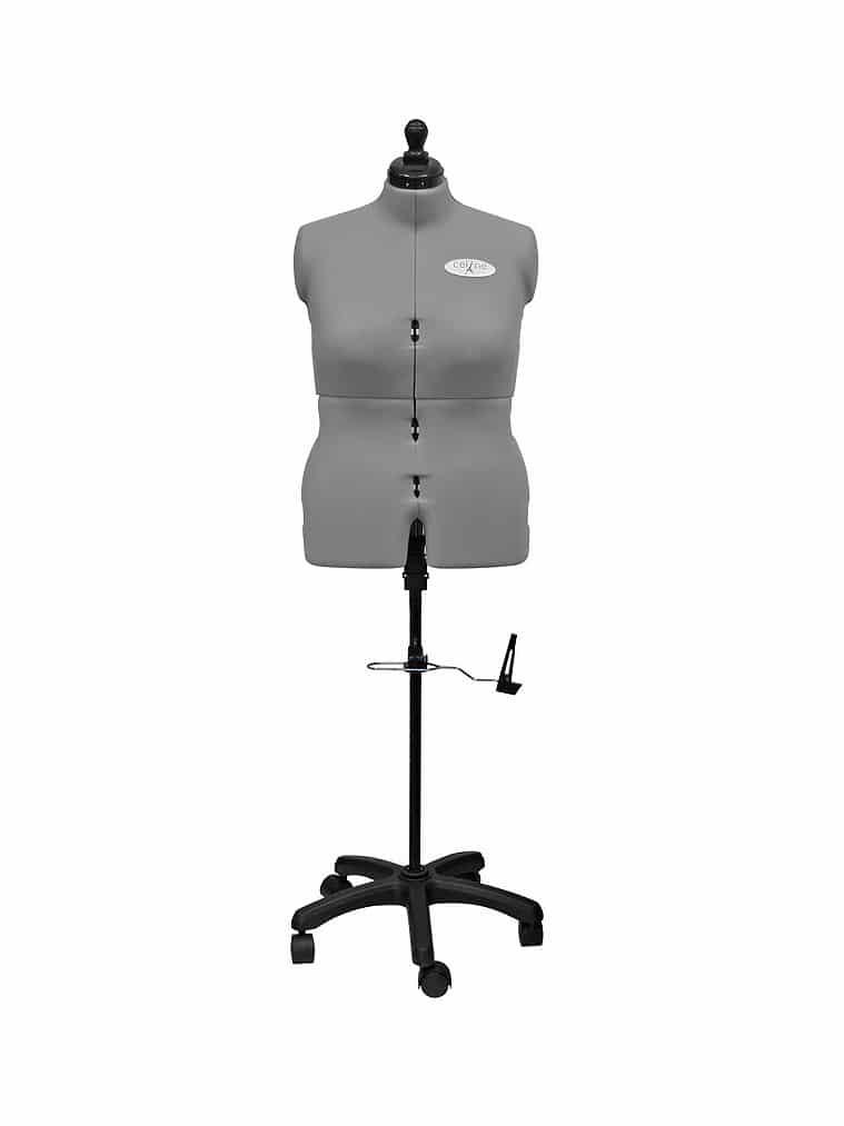 Раздвижной портновский женский манекен Celine Standard Plus F/D (58-68), серый