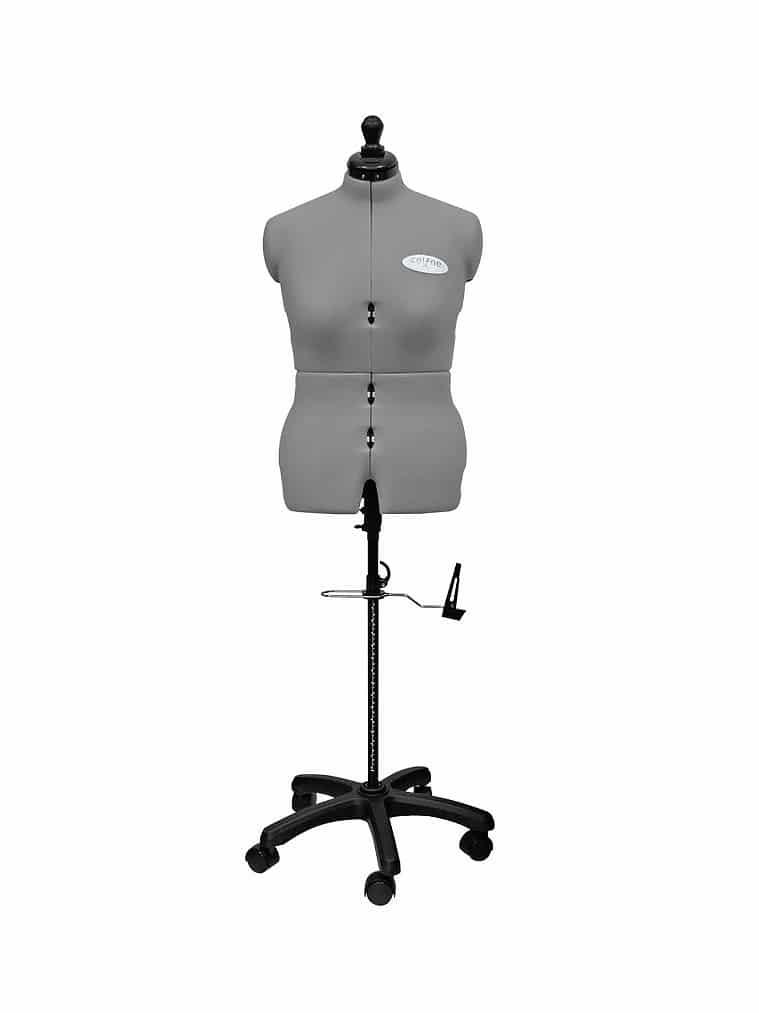 Раздвижной портновский манекен женский Celine Standard Plus M/B (50-58), серый