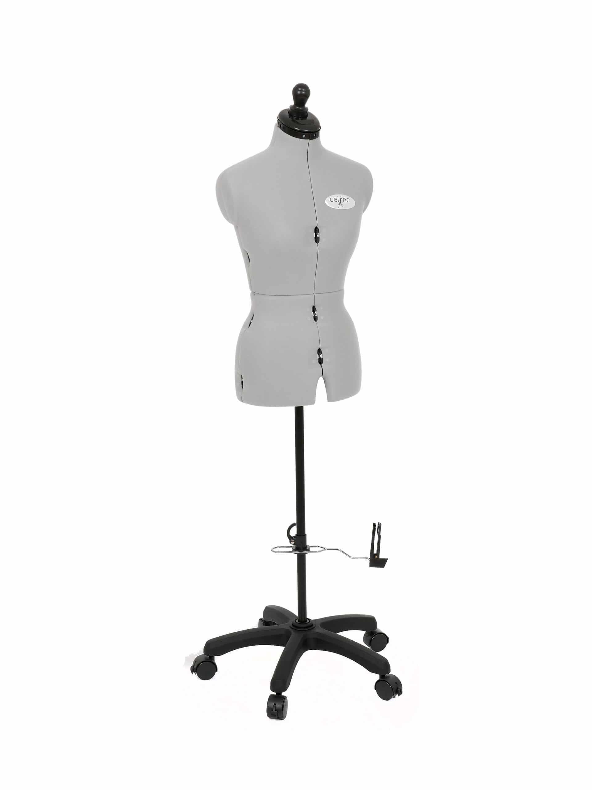 Раздвижной портновский манекен женский Celine Standard Plus S/A (42-52), серый