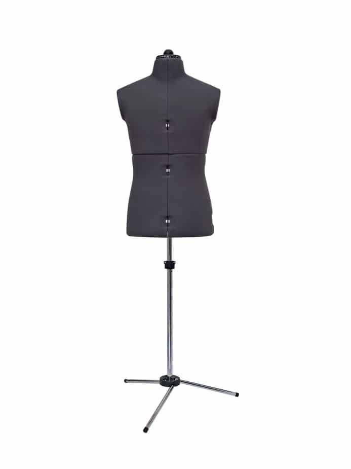 Раздвижной портновский мужской манекен Mens Form (46-56), серый
