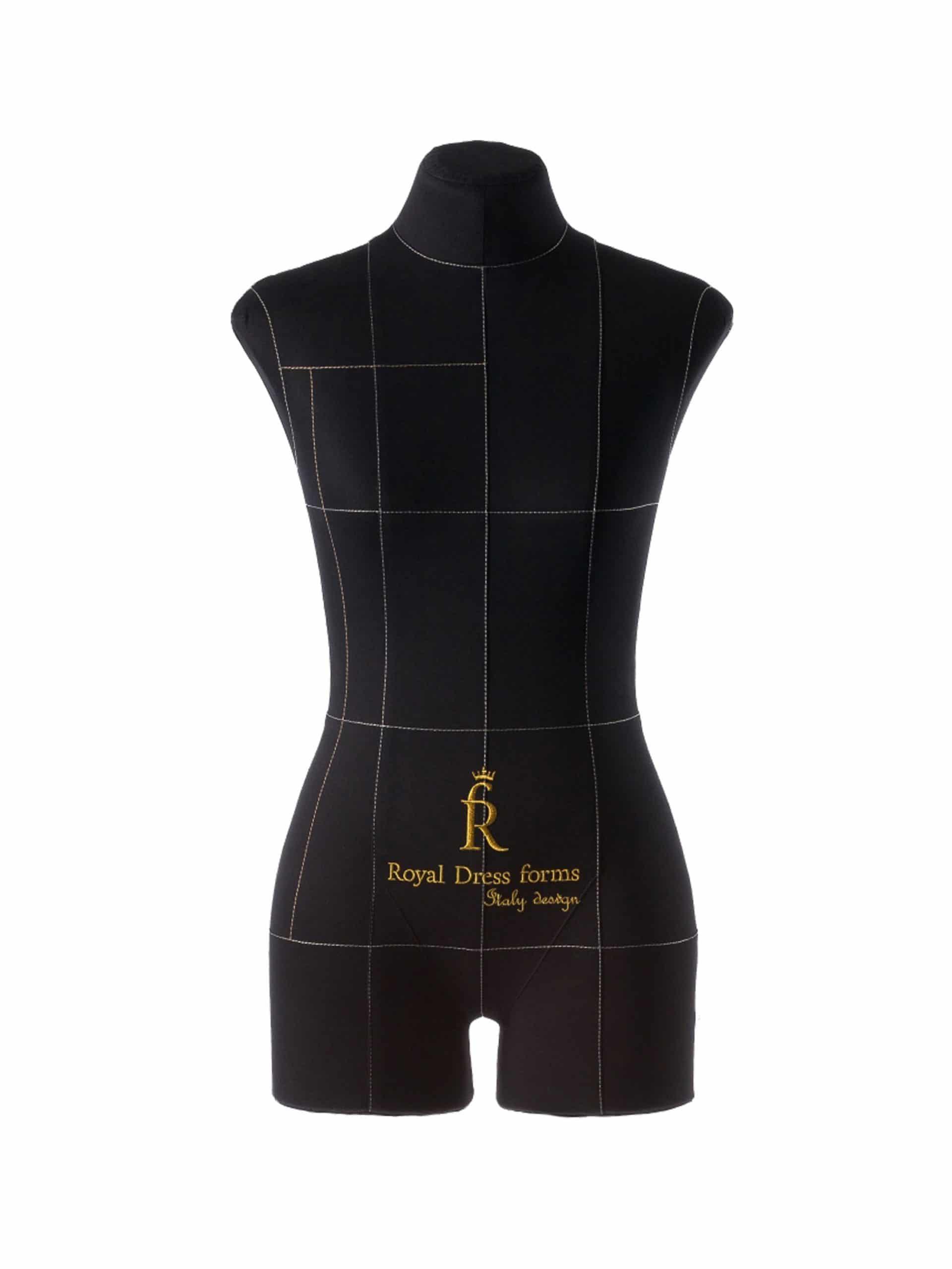 Мягкий портновский женский манекен Monica на подставке Милан, черный