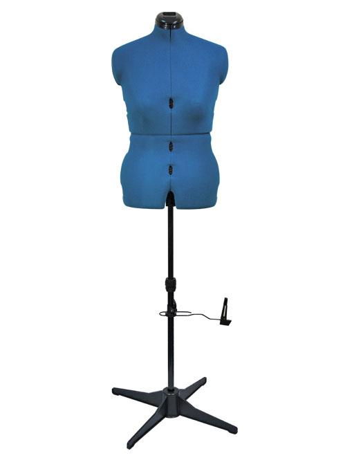 Раздвижной портновский манекен женский Tailormade M/B (50-58), голубой сапфир