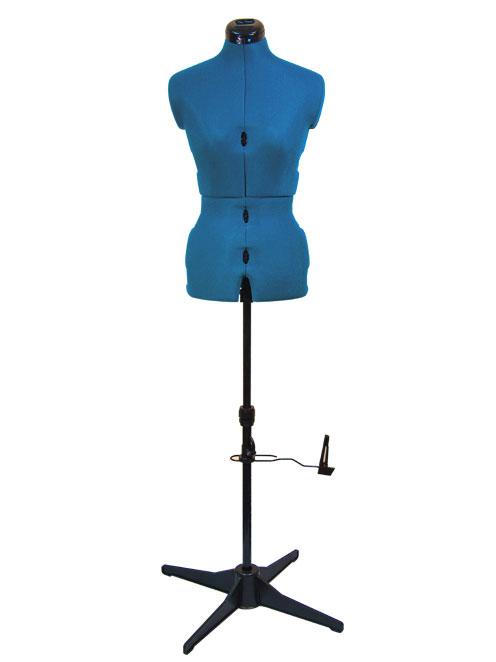 Раздвижной портновский манекен женский Tailormade S/A (42-52), голубой сапфир