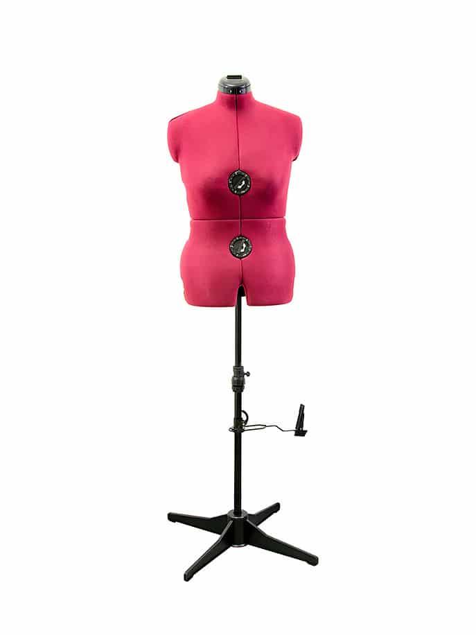 Раздвижной портновский манекен женский Tailormade M/B (50-58), розовый (burgundy)